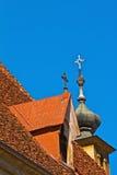 Het dak van de kerk Stock Foto's