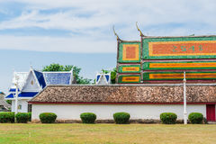 Het dak van de kerk in Boeddhisme royalty-vrije stock afbeeldingen