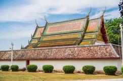 Het dak van de kerk in Boeddhisme stock foto