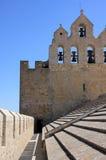 Het dak van de kerk met klokken Royalty-vrije Stock Foto