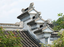 Het dak van de klassiek-stijl Stock Foto