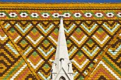Het dak van de mattrias-Kerk Stock Afbeelding