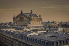 Het Dak van de Opera Ganier in Parijs Stock Fotografie
