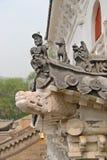 Het dak van de oude bouw in China Stock Fotografie