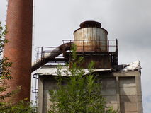 Het dak van de oude industrie Stock Afbeeldingen