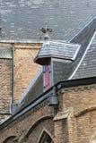 Het dak van de oude kerk. Stock Foto
