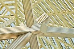 Het dak van de roestvrij staalbundel Stock Foto