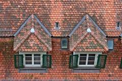 Het dak van de tegel royalty-vrije stock afbeeldingen