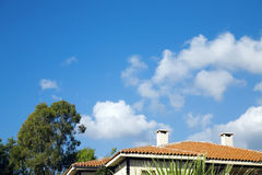 Het dak van de tegel stock foto