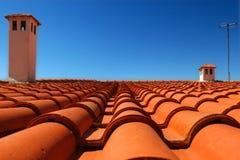 Het dak van de tegel stock afbeelding
