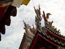 Het dak van de tempel Stock Foto