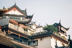 Het dak van de Tempel bouwde de oude Chinese stijl in Royalty-vrije Stock Afbeelding