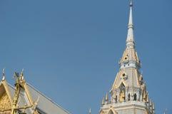 Het dak van de Tempel in Thailand Royalty-vrije Stock Afbeeldingen