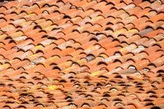 Het dak van de terracottaopdracht royalty-vrije stock foto