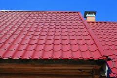 Het dak van een kers. Stock Foto