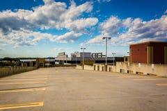 Het dak van een parkerengarage in Gaithersburg, Maryland Royalty-vrije Stock Foto