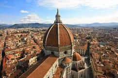 Het dak van Florence Stock Afbeeldingen