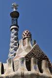 Het dak van Gaudi - Barcelona Royalty-vrije Stock Afbeeldingen