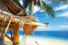 Het dak van het bamboe Stock Afbeeldingen