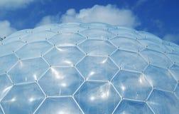 Het dak van het Bioma van het Project van Eden Stock Foto's