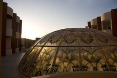Het dak van het hotel royalty-vrije stock afbeelding