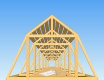 Het dak van het huis. Royalty-vrije Stock Foto's