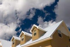 Het dak van het huis Stock Fotografie