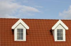 Het dak van het huis stock foto