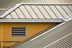Het dak van het metaal Stock Fotografie