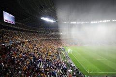 Het dak van het stadion om ventilators te beschermen Stock Afbeeldingen