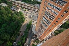 Het dak van Moskou dichtbij park Royalty-vrije Stock Foto