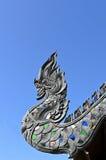 Het Dak van Naga bij de Tempel van Wat Jetiyaluang Royalty-vrije Stock Fotografie