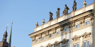 Het dak van Praag Stock Foto's
