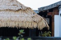 Het dak van het rijststro Royalty-vrije Stock Foto's