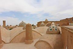 Het dak van Sultan Amir Ahmad Bathhouse in Kashan, Iran royalty-vrije stock foto