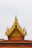 Het dak van wat Thai in Chiang Rai royalty-vrije stock foto's