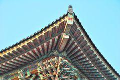 Het dakarchitectuur van de tempel stock afbeelding
