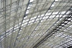 Het dakbouw van het staal en van het glas royalty-vrije stock afbeeldingen