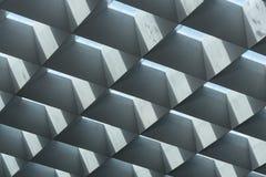 Het dakdakramen van de Brutalistarchitectuur van concreet glas met lig royalty-vrije stock afbeelding
