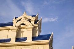 Het dakdetail van de tempel Stock Fotografie