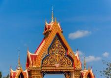 Het Dakdetail van de Tempel van Thailand Stock Afbeelding