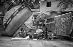 Het dakloze leven royalty-vrije stock foto's