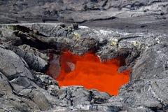 Het Dakraam van de lava - het Nationale Park van de Vulkanen van Hawaï Stock Foto's