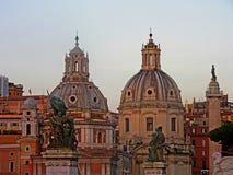 Het dakraam van Vatikaan bij schemering Stock Afbeelding