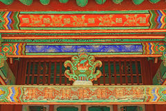 Het Dakstraal van Korea het Houten Schilderen royalty-vrije stock afbeeldingen