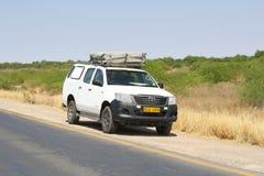 Het daktent van de safariauto, Nambia royalty-vrije stock afbeelding