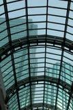 Het Dakwerk van het glas met Skyscrapes Stock Foto