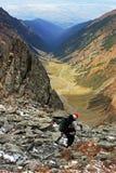 Het dalen in de grote lange valleiblaasbalg Stock Foto's
