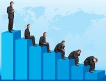 Het dalen grafiek Royalty-vrije Stock Foto's