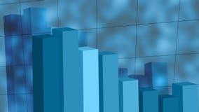 Het Dalen van de grafiek Royalty-vrije Stock Afbeelding